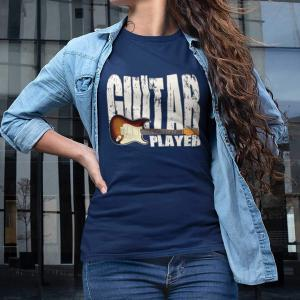 Stratocaster Guitar Player Unisex T-shirt - navy