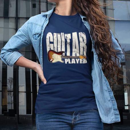Stratocaster Guitar Player Unisex T-shirt - navy
