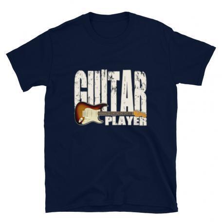 Stratocaster Guitar Player Unisex T-shirtFlat_Navy