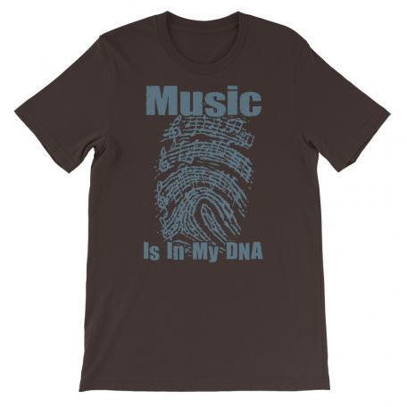 Music Is In My DNA Tshirt brown