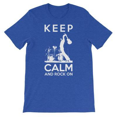 Keep Calm And Rock On Guitar Shirt-true royal