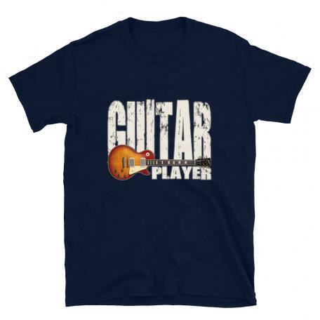 Les Paul Guitar Player Unisex T-navy