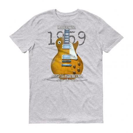 Original 1959 Les Paul Guitar T-Shirt - Heather Grey
