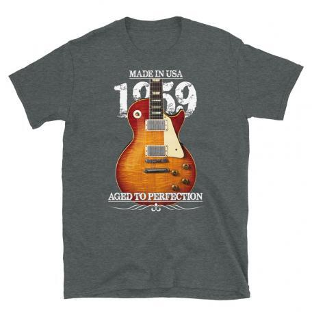 Classic 59 Les Paul Red Sunburst Aged To Perfection T-shirt-dark heather