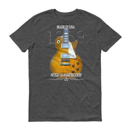 Original 1959 Les Paul Guitar T-Shirt - Heather Dark Grey