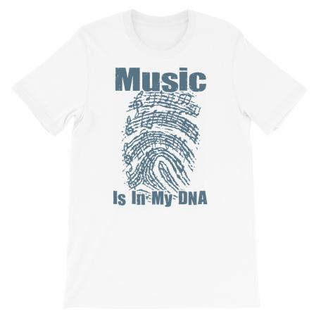 Music Is In My DNA Tshirt white