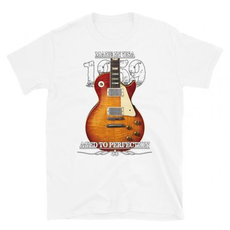 Classic 59 Les Paul Red Sunburst Aged To Perfection T-shirt-white