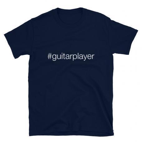 Hashtag Guitar Player #guitarplayer Unisex T-shirt -navy