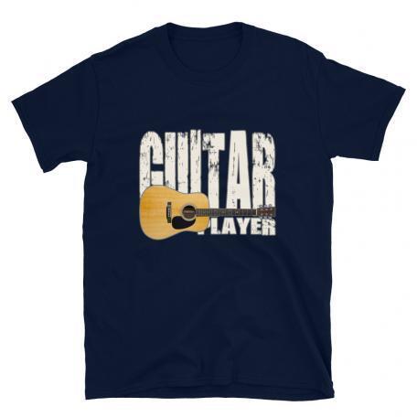 Acoustic Guitar Player Unisex T-shirt navy