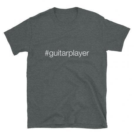 Hashtag Guitar Player #guitarplayer Unisex T-shirt - heather dark grey