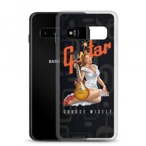 Choose Wisely Retro Guitar Pinup Girl Samsung Phone Case