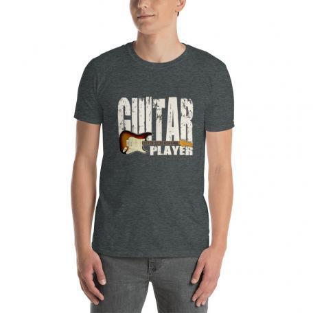 Stratocaster Guitar Player Unisex T-shirt-dark heather