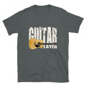 Acoustic Guitar Player Unisex T-shirt - dark heather
