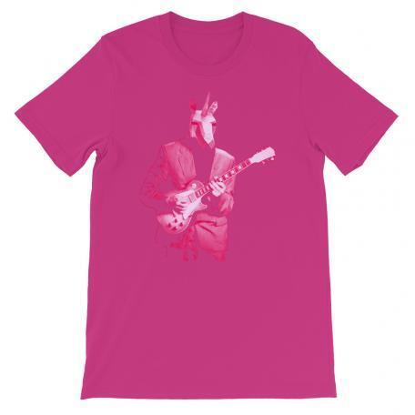Pink Unicorn Guitar Player Unisex Tee-berry
