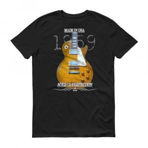Original 1959 Les Paul Guitar T-Shirt - Black