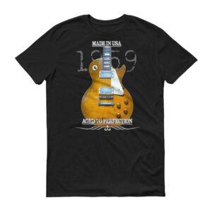 Original 1959 Les Paul Guitar T-Shirt - Black