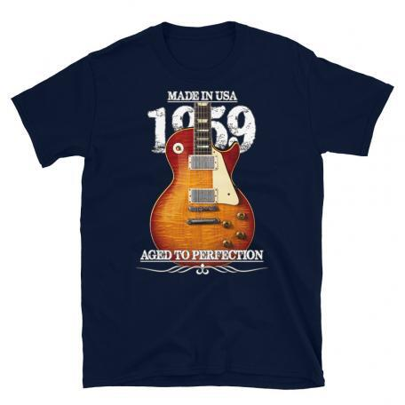 Classic 59 Les Paul Red Sunburst Aged To Perfection T-shirt-navy