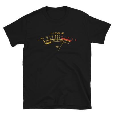 Classic Vu Meter Unisex T-shirt-black