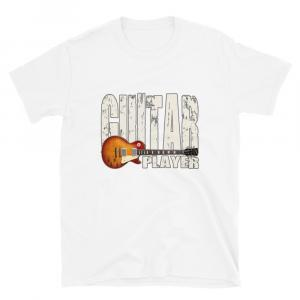 Les Paul Guitar Player Unisex T-white
