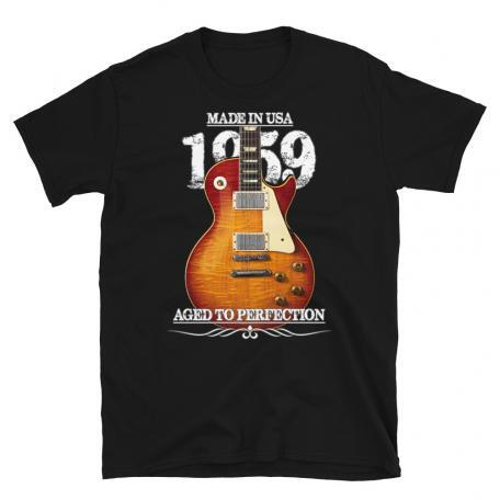Classic 59 Les Paul Red Sunburst Aged To Perfection T-shirt-black