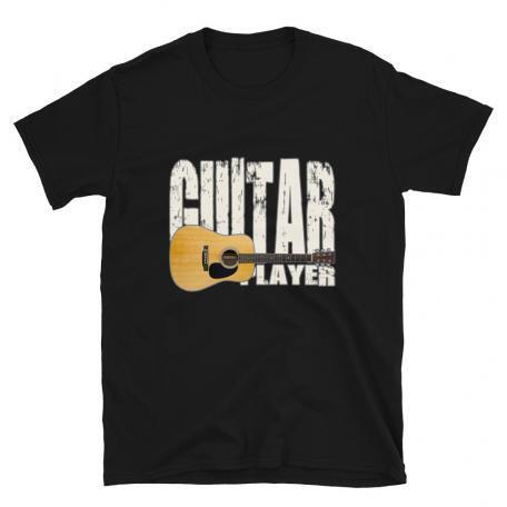 Acoustic Guitar Player Unisex T-shirt - black