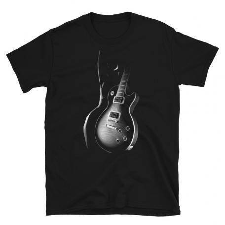 Black Les Paul Guitar and Silhouette