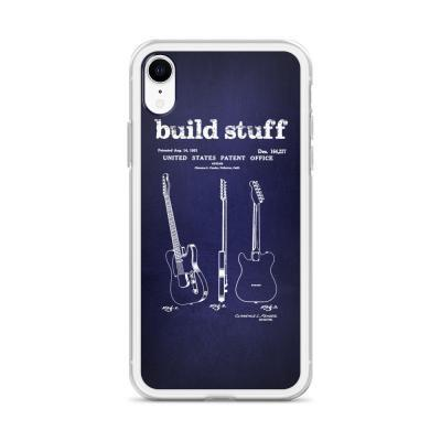 Build Stuff Fender Guitar Patent iPhone Case