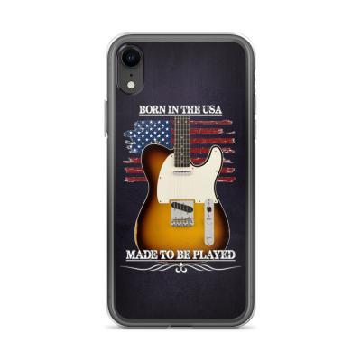 Born In The USA, Made To Be Played Telecaster Guitar iPhone Case