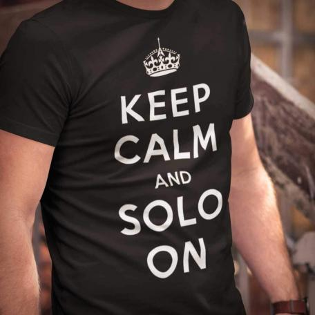 Keep Calm And Solo On-black