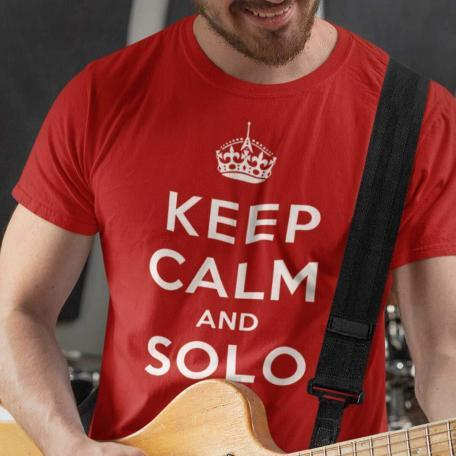 Keep Calm And Solo On-red