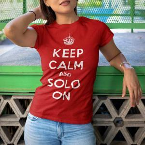 Keep Calm And Solo On Short-Sleeve Unisex T-Shirt