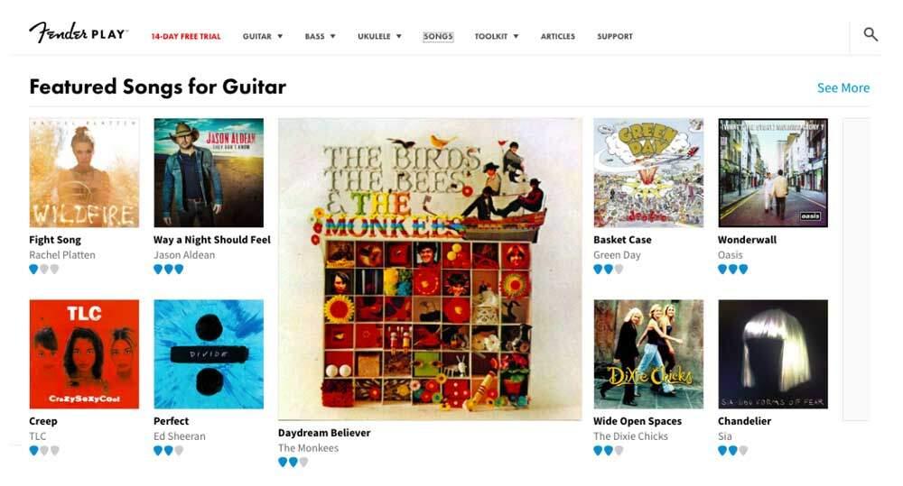 Fender Play vs Guitar Tricks - FP Featured Songs