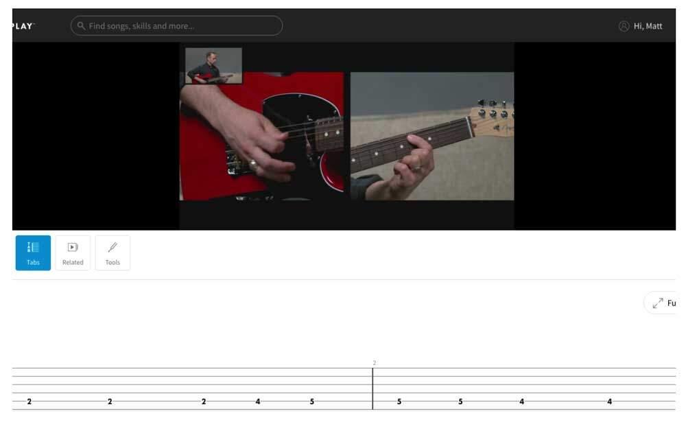 Fender Play vs Guitar Tricks - FP Video & Tabs