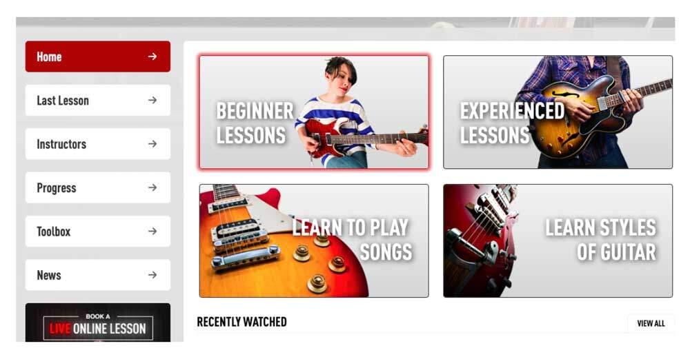 Fender Play vs Guitar Tricks - GT Home