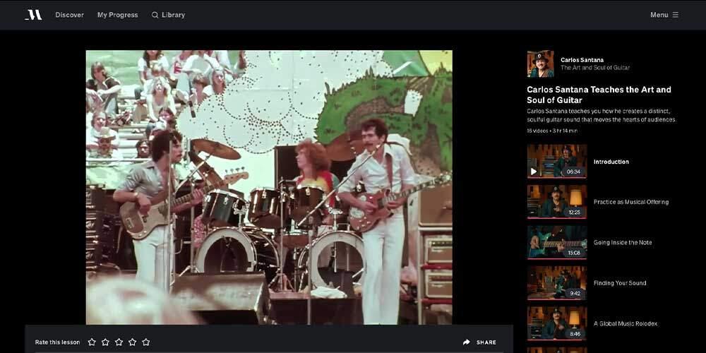 MasterClass Guitar Review - Santana