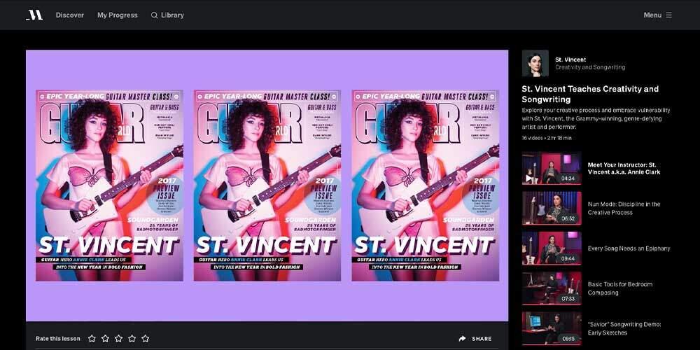 Saint Vincent MasterClass Review - Guitar-Player
