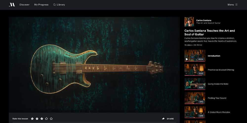 Santana MasterClass Review - Guitar