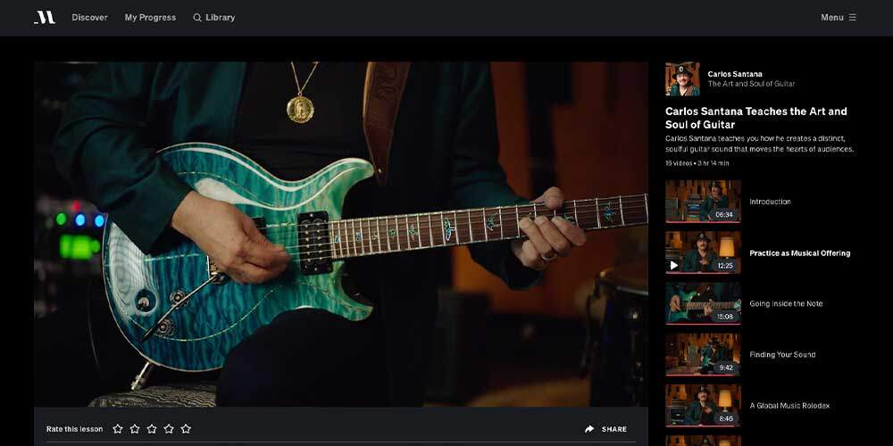 Santana MasterClass Review - Notes