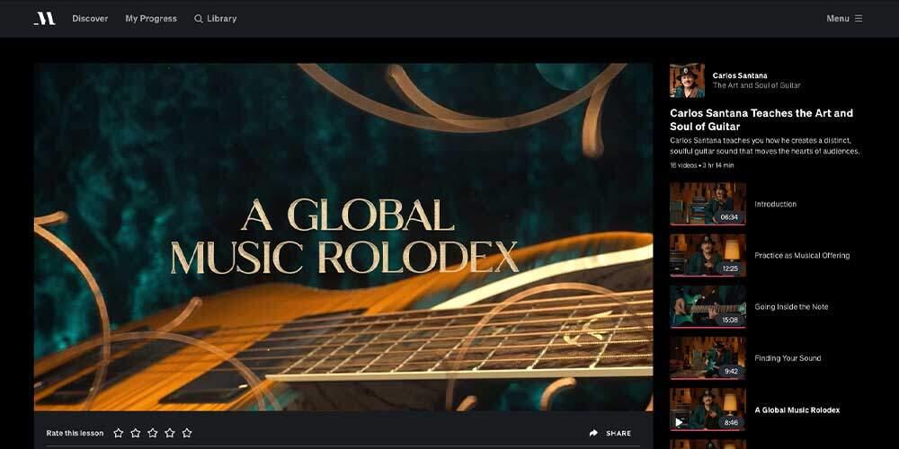 Santana MasterClass Review - Rolodex