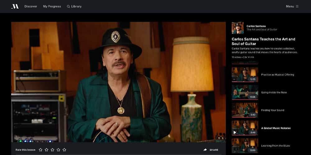 Santana MasterClass Review - Teacher
