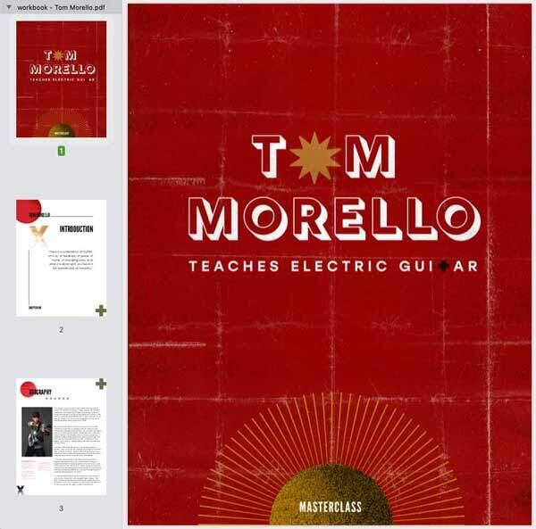 TOm Morello Guitar MasterClass Workbook
