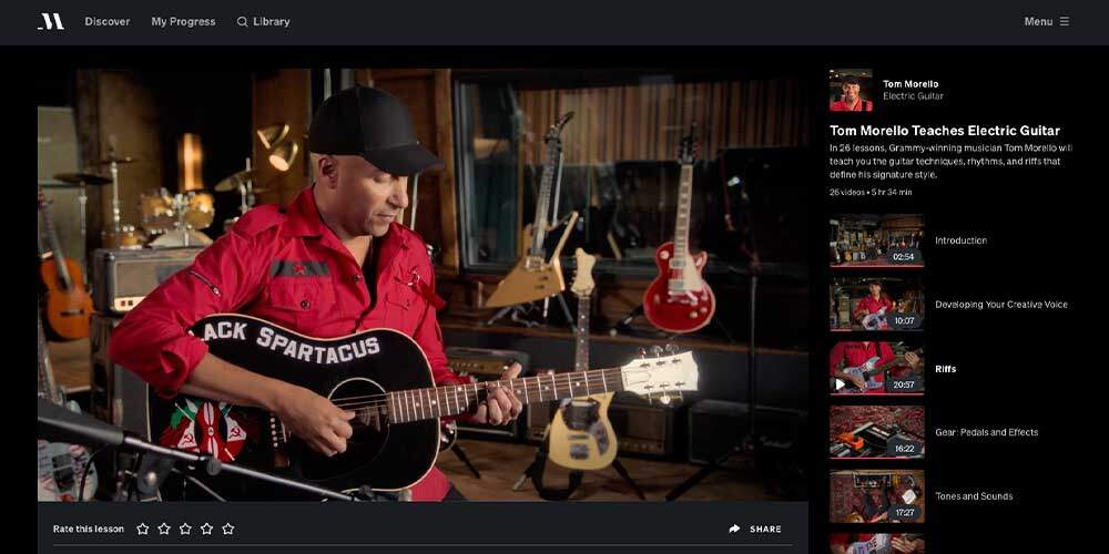Tom Morello Guitar MasterClass